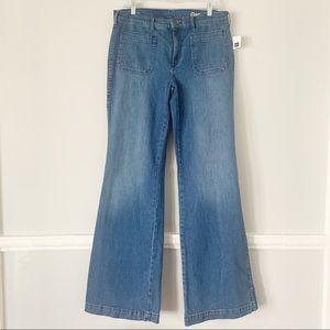 NWT GAP High Rise Wide Leg Jeans 12 Long